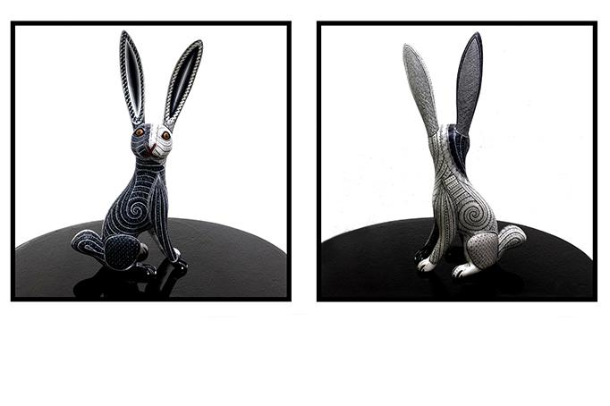 Oaxacan Bunny Dyptich