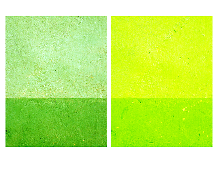 Green Yellow Wall