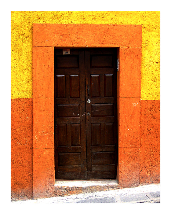 Yellow Orange Door